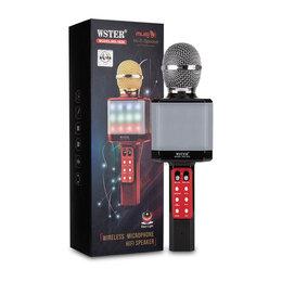 Микрофоны - Караоке - Микрофон Светящийся WS-1828 черный, 0