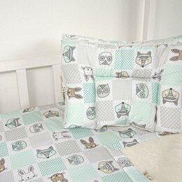 """Одеяла - Одеяло """"Нежность SB"""" Лоскуток мята 110*140 см, с натуральной шерсть..., 0"""