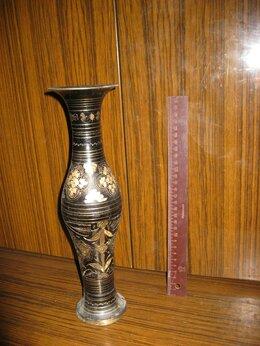 Вазы - Ваза напольная настольная с гравировкой Латунь, 0
