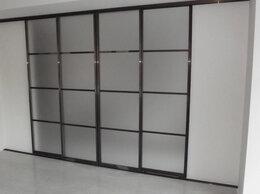 Шкафы, стенки, гарнитуры - Раздвижная перегородка. Двери-купе. Матовое стекло, 0