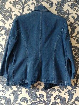 Костюмы - Пиджак женский джинсовый 100 хлопок размер 50-52, 0