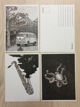 Открытки - Авторские открытки ч/б, 0
