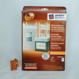 Бумага и пленка - Самоклеящияся этикетки Avery прямоугольные 62x89мм, 0