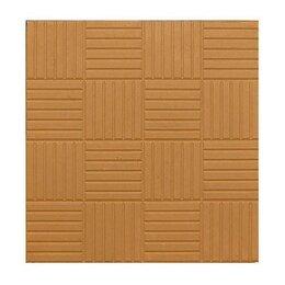 Тротуарная плитка, бордюр - Тротуарная плитка 300*300*30 паркет желтая, 0