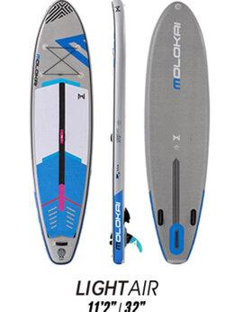 """Водные лыжи, вейкбординг и книбординг - Сапборд Molokai Light Air 11'2"""" (3к carbon), 0"""