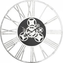 Часы настенные - Часы настенные круглые серебро Gear, 0