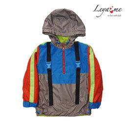 Куртки и пуховики - Детская куртка-анорак с неоновыми деталями, 0