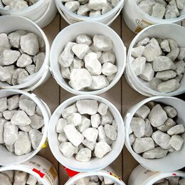 Камни для печей - Камни для бани Кварц белый, 0