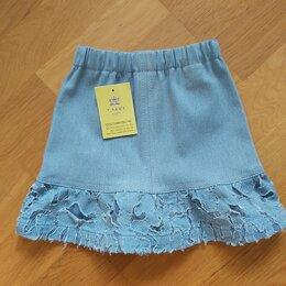 Юбки - Юбка новая джинсовая голубая , 0
