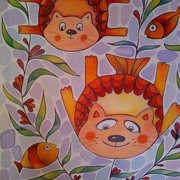Картины, постеры, гобелены, панно - Наивные катины Ольги Коневой, 0