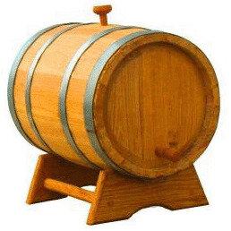 Бочки, кадки, жбаны - Бочка дубовая для вина и коньяка (15 литров), 0