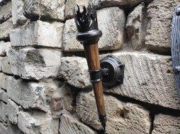 Бра и настенные светильники - Фонарь настенный, светильник бра факел кованый, 0
