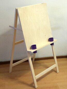 Рисование - Мольберт хлопушка c дополнительной полочкой, 0