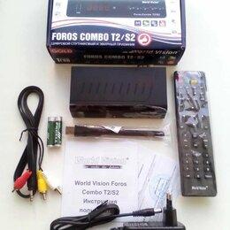 Усилители и ресиверы - Ресивер DVB T2/S2/C +IPTV World Vision Foros combo, 0