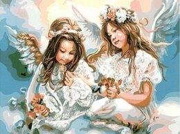 Картины, постеры, гобелены, панно - Картина по номерам GX 8963 Девочки-ангелы 40*50, 0