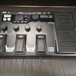 Процессоры и педали эффектов - Гитарный процессор NUX MFX-10, 0