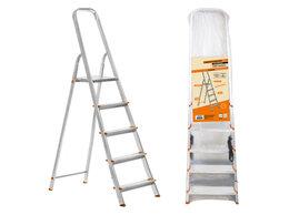 Лестницы и стремянки - Стремянка алюм. 6 ступеней H1210 мм, народная, 0