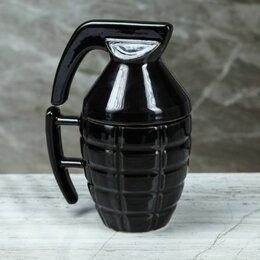 Кружки, блюдца и пары - Кружка Граната 0,25л, чёрный, глянец (арт 3891182), 0