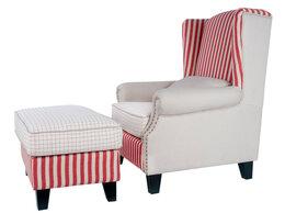 Кресла - Кресло белое с подставкой для ног Parris, 0