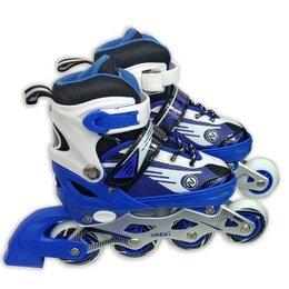 Скейтборды и лонгборды - Ролики раздвижные, алюминиевая рама, подшипники ABEC-7, колеса PU, размер 35-..., 0