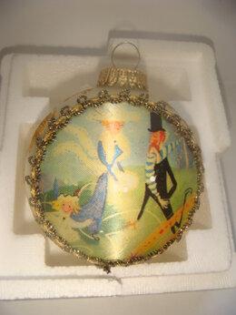 Ёлочные украшения - Игрушка шар кремовый Harrods - 2000 год, 0