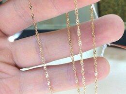 Цепи - Золотая цепочка • Сингапур 585°, размер 45 и 50 см, 0