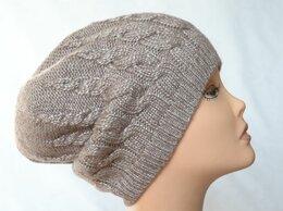 Головные уборы - Вязаная женская шапка косами розовая Vizio…, 0