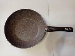 Сковороды и сотейники - Сковорода WOK 28 см с покрытием гранит, 0