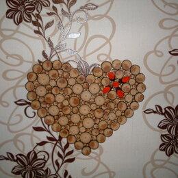 Картины, постеры, гобелены, панно - Панно из спилов дерева Сердце, 0