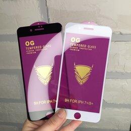 Защитные пленки и стекла - Защитное стекло для iPhone 7/8plus белое/черное, 0