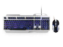 Комплекты клавиатур и мышей - Комплект игровой Гарнизон GKS-510G металл черный с, 0