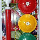 Крышки и колпаки - Набор для вакуумного консервирования продуктов  (насос и 9 многоразовых крышек ), 0