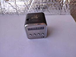 Портативная акустика - Не рабочая колонка радио будильник мп3 fm куб…, 0