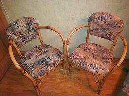 Стулья, табуретки - Стул-кресло натур.бамбук с гобеленом 2шт, 0