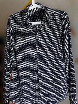 Рубашки - Черная рубашка H&M р.165/84 13-14 лет на стройного, 0