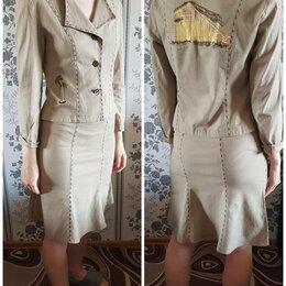 Костюмы - Костюм сафари (пиджак + юбка), 0
