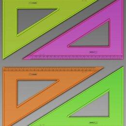 Измерительные инструменты и приборы - Угольник 30гр*23см прозрачная арт ТК54 Стамм/160/, 0