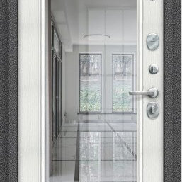 Входные двери - Входная дверь S 104.П61 Антик Серебро/Bianco Veralinga, 0