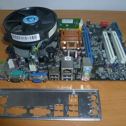 Материнские платы - Материнская плата Asus P5KPL-AM IN/GB/SI с процессором и кулером, 0