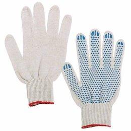 Перчатки - Перчатки хлопчатобумажные, КОМПЛЕКТ 300 ПАР, 7,5…, 0