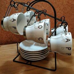Сервизы и наборы - Кофейный сервиз на подставке новый, 0
