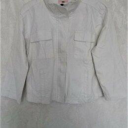 Куртки - Куртка-бомбер, джинсовая, р.42-44,44-46, 0