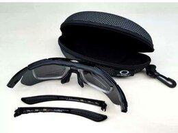 Очки и аксессуары - Очки Okley с 4 линзами черные, поляризационные, 0