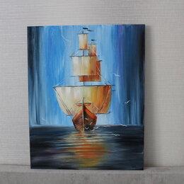 """Картины, постеры, гобелены, панно - Картина маслом """"Парусник"""" 40х50 см, 0"""