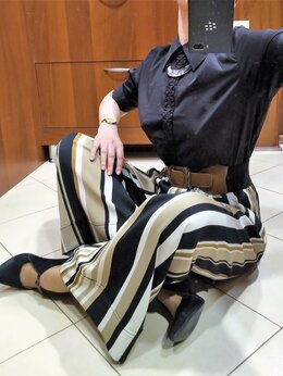Брюки - 🔴 Donatella Via Roma Италия широкие юбка -…, 0