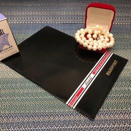 Обложки для документов - Обложка для паспорта цвет ЧЕРНЫЙ ГЛЯНЕЦ, в наличии всего 1 экземпляр, 0