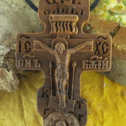Кулоны и подвески - Мужской нательный крест из дерева, 0