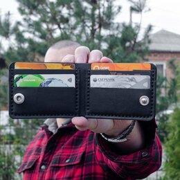 Кошельки - Компактное портмоне ручной работы. Кошелек из кожи, 0