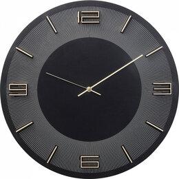 Часы настенные - Часы настенные круглые черные Leonardo, 0