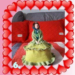 Куклы и пупсы - Вязаная Барби Дама с Платье, 0